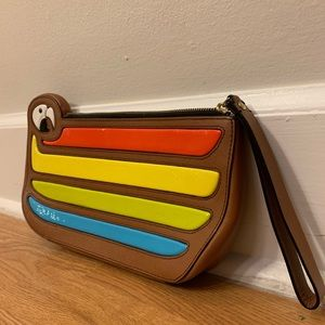 Kate spade parrot cay macaw totem rainbow clutch